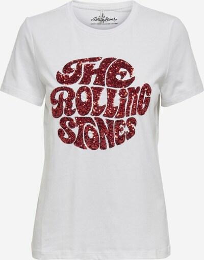 ONLY T-shirt en rouge / blanc, Vue avec produit