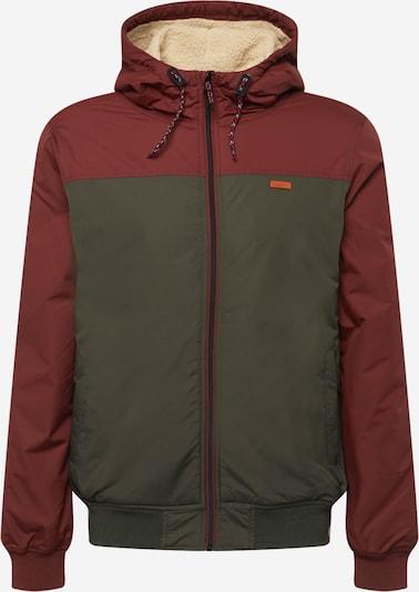 Iriedaily Jacke in dunkelgrün / weinrot, Produktansicht
