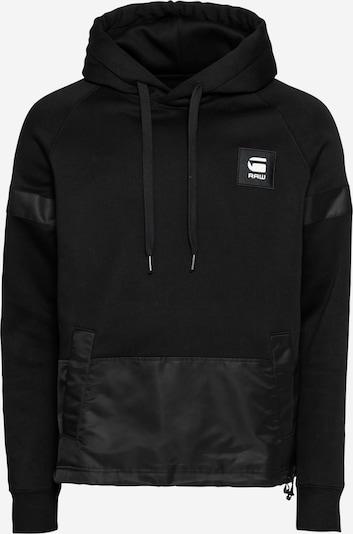 G-Star RAW Sweatshirt 'Prisoner' in de kleur Zwart / Wit, Productweergave