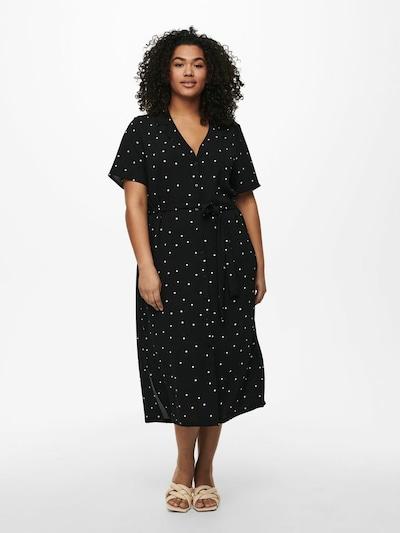 ONLY Carmakoma Blousejurk in de kleur Zwart / Wit, Modelweergave
