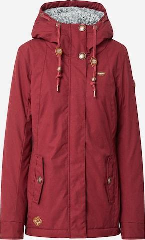 Ragwear Parka zimowa 'MONADE' w kolorze czerwony