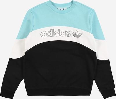 ADIDAS ORIGINALS Sweatshirt in türkis / schwarz / weiß, Produktansicht