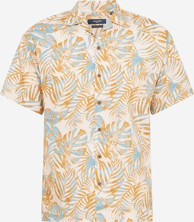 JACK & JONES Hemd 'WREN' in hellblau / cognac / weiß, Produktansicht