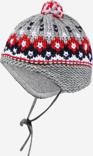 MAXIMO Mütze 'BABY' in navy / grau / rot / weiß, Produktansicht