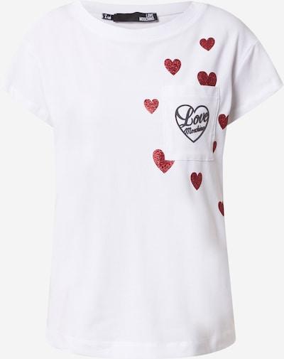 Tricou Love Moschino pe roșu / negru / alb, Vizualizare produs