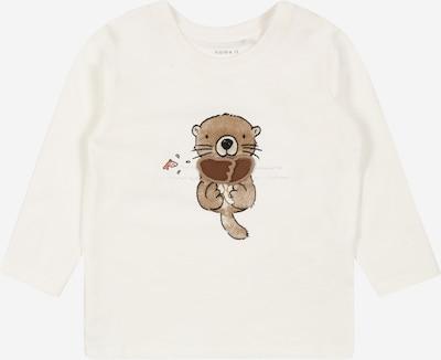 NAME IT Shirt 'BORAN' in braun / weiß, Produktansicht
