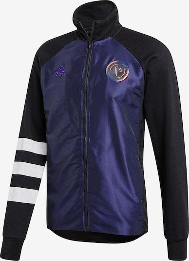 ADIDAS PERFORMANCE Jacke in kobaltblau / schwarz / weiß: Frontalansicht