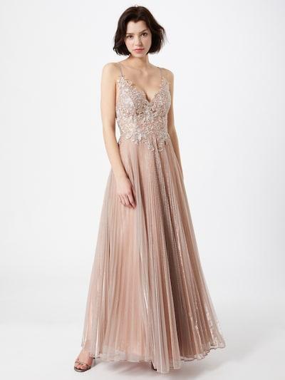 LUXUAR Aftonklänning i roséguld, På modell