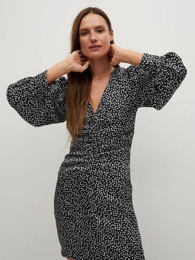 MANGO Kleid 'Rony' in schwarz / weiß, Modelansicht