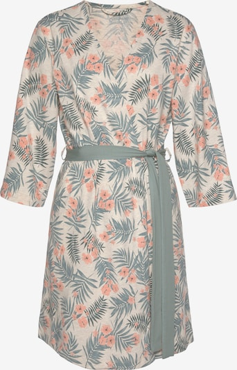 LASCANA Dressing Gown in Cream / Jade / Salmon, Item view