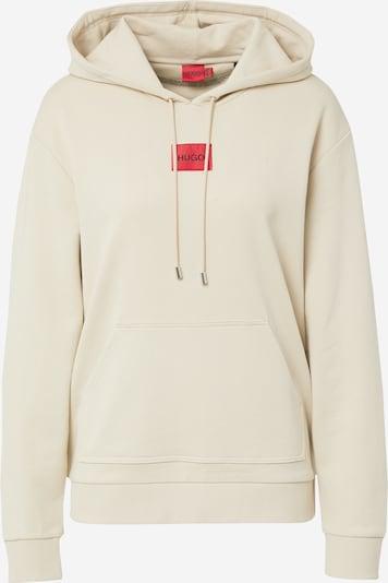 HUGO Sweatshirt 'Dasara' in beige / rot, Produktansicht
