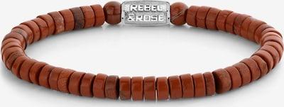 Rebel & Rose Armband in braun / silber, Produktansicht