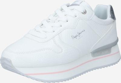 Pepe Jeans Zemie brīvā laika apavi 'RUSPER BELL' Sudrabs / balts, Preces skats