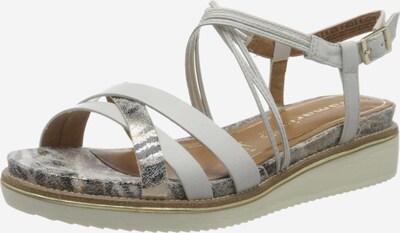 TAMARIS Sandale in beige / braun / silber / weiß, Produktansicht