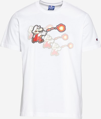 Champion Authentic Athletic Apparel T-Shirt in beige / gelb / orange / hellrot / weiß, Produktansicht