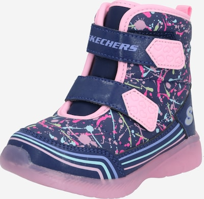SKECHERS Schuh 'POWER PAINT' in navy / royalblau / hellblau / pink, Produktansicht