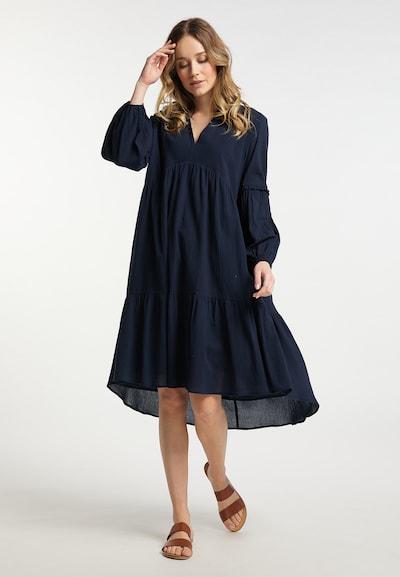 DreiMaster Vintage Kleid in blau / dunkelblau, Modelansicht