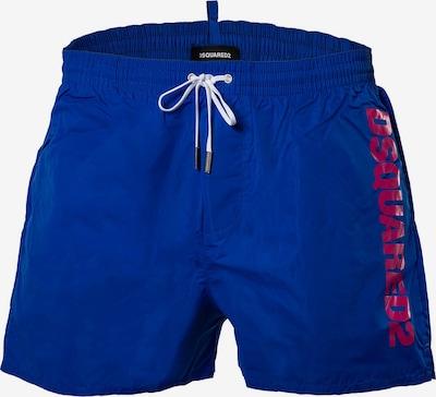 DSQUARED2  Shorts de bain en bleu / rouge, Vue avec produit