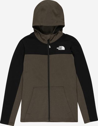 THE NORTH FACE Sportsweatjacke 'SLACKER' in khaki / schwarz, Produktansicht