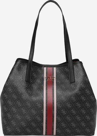 Pirkinių krepšys 'Vikky' iš GUESS , spalva - pilka / antracito / raudona, Prekių apžvalga