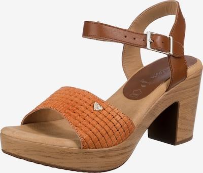 JANE KLAIN Sandale in braun / orange, Produktansicht