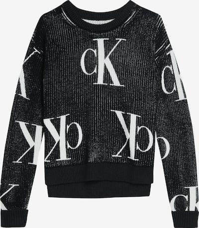 Calvin Klein Jeans Pull-over en noir / blanc, Vue avec produit