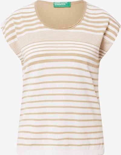 UNITED COLORS OF BENETTON T-shirt en camel / blanc, Vue avec produit