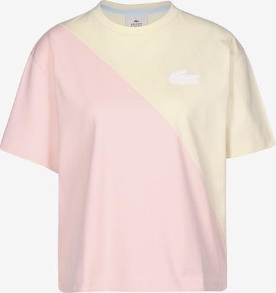 Lacoste LIVE Tričko - pastelově žlutá / pastelově růžová / bílá, Produkt
