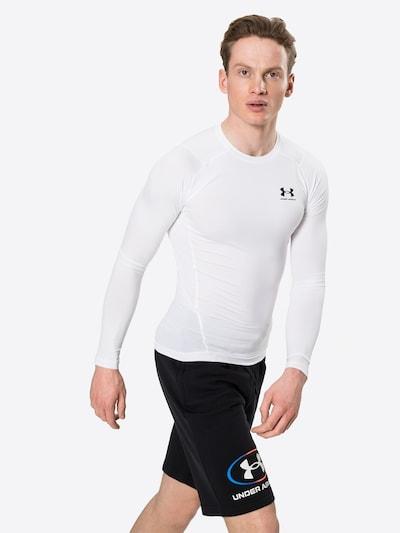 UNDER ARMOUR Sportshirt in schwarz / weiß: Frontalansicht