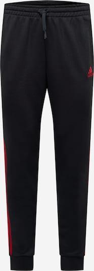 ADIDAS PERFORMANCE Спортен панталон в червено / черно, Преглед на продукта
