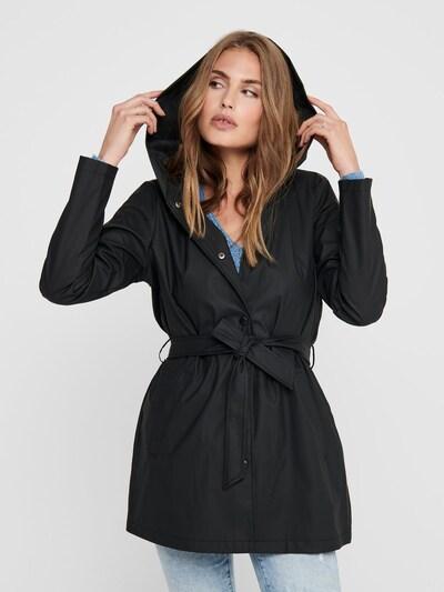 JACQUELINE de YONG Regenmantel in schwarz, Modelansicht