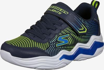 SKECHERS Sneaker in dunkelblau / neongelb, Produktansicht