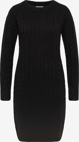 MYMO Gebreide jurk in Zwart