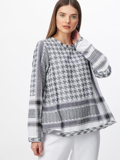 Cecilie Copenhagen Bluse in schwarz / weiß, Modelansicht