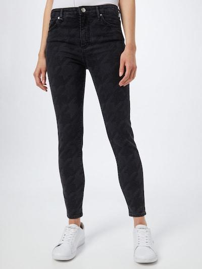ARMANI EXCHANGE Jean en gris denim / noir denim, Vue avec modèle