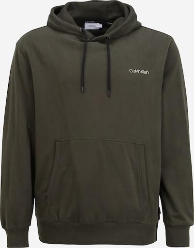 Calvin Klein Big & Tall Sweater majica u maslinasta / bijela, Pregled proizvoda