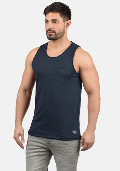 !Solid Tanktop 'Andrew' in blau: Frontalansicht