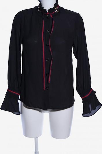 Danity Langarm-Bluse in M in rot / schwarz, Produktansicht