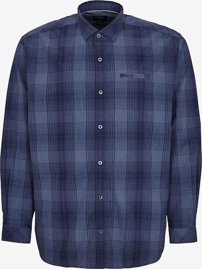 s.Oliver Regular Fit: Kariertes Stretchhemd in blau, Produktansicht