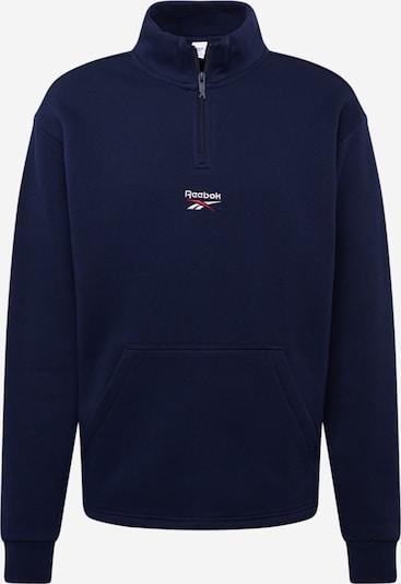 REEBOK Sweatshirt in dunkelblau / rot / weiß, Produktansicht