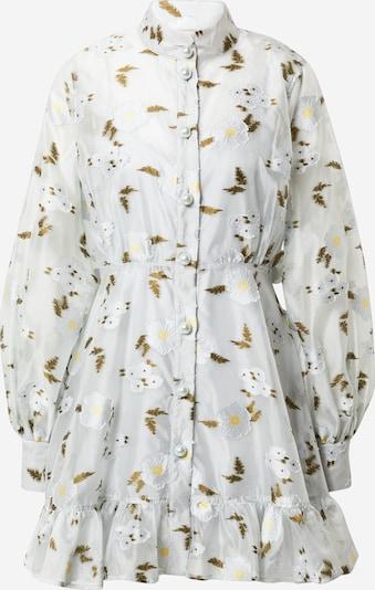 Rochie tip bluză 'Lynn' Custommade pe albastru pastel / galben deschis / kaki / alb, Vizualizare produs