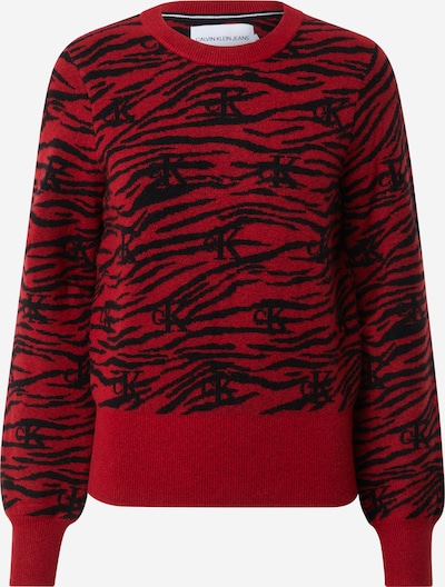 piros / fekete Calvin Klein Jeans Pulóver 'ZEBRA', Termék nézet