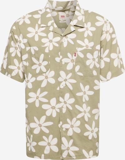 LEVI'S Hemd 'CAMPER' in camel / khaki / weiß, Produktansicht