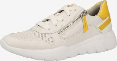 JANA Sneaker in gelbmeliert / weiß, Produktansicht
