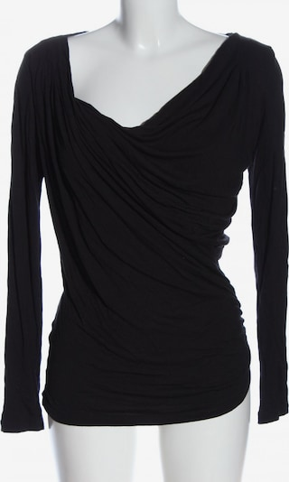 DE.CORP Langarm-Bluse in M in schwarz, Produktansicht