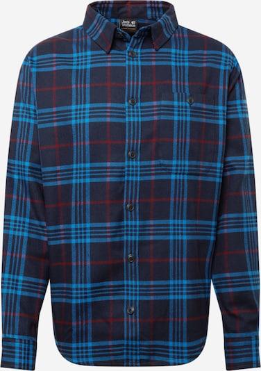 Cămașă 'CABIN VIEW' JACK WOLFSKIN pe bleumarin / albastru deschis / roșu carmin, Vizualizare produs