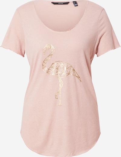 VERO MODA Shirt 'LUA' in de kleur Goud / Rosa, Productweergave