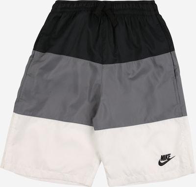 Nike Sportswear Shorts in grau / schwarz / weiß, Produktansicht