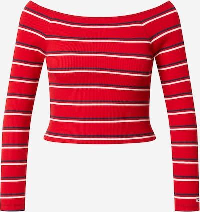Tommy Jeans Shirt in navy / hellrot / weiß, Produktansicht