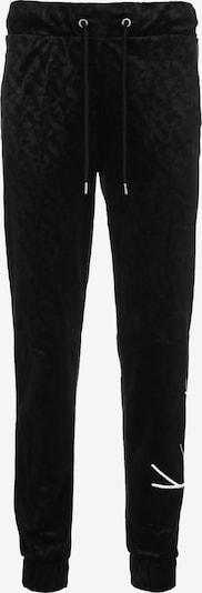Karl Kani Jogginghose ' Signature Velvet ' in schwarz, Produktansicht